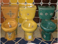 Otomí - Authentic Mexican Products - Talavera Toilets